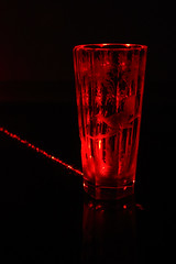 Glass in 650 nm light (mandrej) Tags: laser red stilllife glass dark blackbackground macrofriday