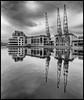 Cranes in waiting - Canary Wharf (jerry_lake) Tags: 7thapril2018 canarywharf define2 flickrmeetup london cranes silverefexpro2 londonflickrmeet2018 gallery