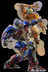 optimus_prime_v_bumblebee_by_ (capcomkai) Tags: tlk optimus optimusprime op knightop transformers transformersthelastknight