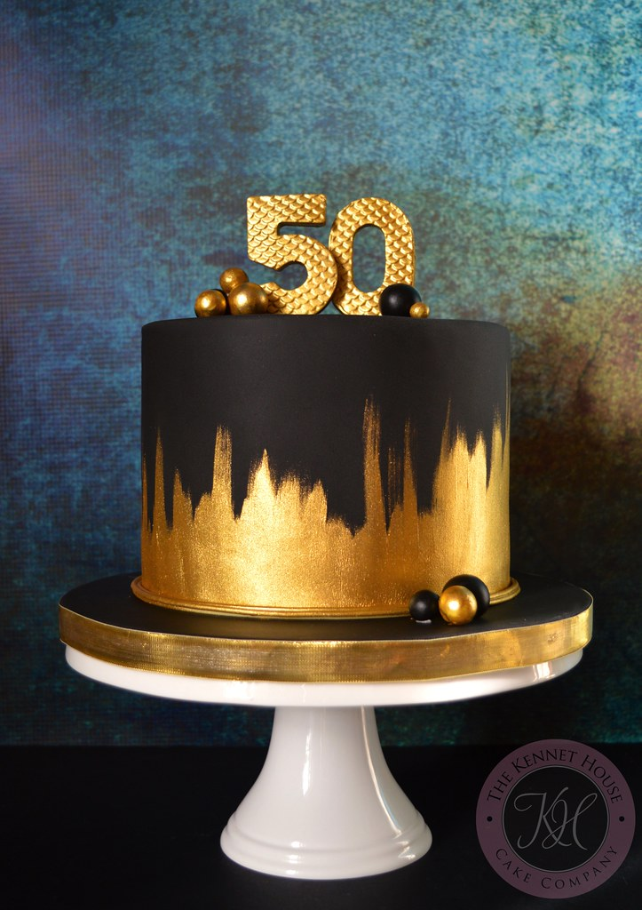 Gold 50th Birthday Cake Kennet House Cakes Tags 50 Painted