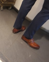 Airport Daddy - Dutch Businessman 04 (TBTAOTW2011) Tags: hidden camera candid photo airport businessman business man walking mature daddy dad monks monkstraps tan brown leather dress shoe shoes feet foot suit belly beefy glasses