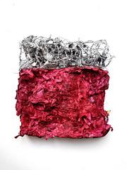 Study (Ines Seidel) Tags: paper newspaper processed process experimental papier verändern red rot