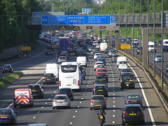 M56 Wythenshawe (J_Piks) Tags: road motorway highway traffic sign overheadsign directionsign m56 wythenshawe manchester