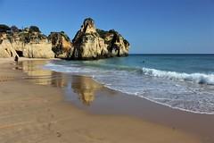 1629 ALVOR ALGARVE (rustinejean) Tags: rustine portugal mer sea nature ocean falaise vague bleu blue sable