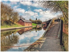 Reflections on The Dudley Canal UK. (hussey411) Tags: water sky amateurphotography amateurphotographer photographer photography photo iphonephotography reflections reflection canalboat boat waterways canal uk
