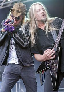 Warrel Dane and Lenny Rutledge of Sanctuary on Warrel's final tour