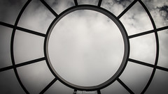 Target (jermythomas) Tags: sky abstract pattern cage trapped freedom black white color contrast greyscale circles clouds rain snow sleet weather