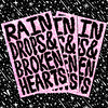 Rain Drops & Broken Hearts (leannaperry) Tags: leanna perry art artist design designer illustration draw drawing brooklyn new york endless editions zine zines book publication barbed wire goth emo gothic patterns pink neon green acid teardrops rain broken hearts love lust relationships printed matter fair diy publishing