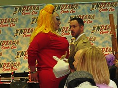 IMG_5597 (kennethkonica) Tags: indianacomiccon costumes comics people persons canonpowershot canon indiana indianapolis indy hoosier global random usa america fun pose midwest face kennethkonica eyes devine drag crossdresser red wig yellow