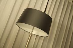 Frankfurt Hotel Idyll (raumoberbayern) Tags: abstract minimal black white schwarz weis hotel room zimmer lamp lampe vorhang store