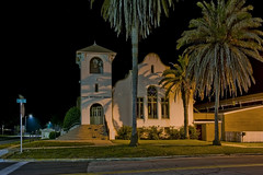 First United Methodist Church of Perry, 302 N Jefferson Street,  Perry, Florida, USA / Built: 1917 / Architect: George W. Kramer / Foundation-Walls: Stucco / Architectural Style: Mission Revival (Photographer South Florida) Tags: firstunitedmethodistchurchofperry 302njeffersonstreet perry florida usa taylorcounty historical city cityscape urban downtown skyline northflorida centralbusinessdistrict highrise hotels building architecture commercialproperty cosmopolitan metro metropolitan metropolis sunshinestate realestate commercialoffice nationalregisterofhistoricplaces town treecapitolofthesouth naturecoast taylorcountycourthouse 108njeffersonstreet 1970 neoclassical longexposure palmtree georgewkramer