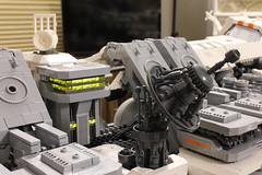 Ugly Duckling: Bridge & Comm Array (Blake Foster) Tags: lego afol space microspace spaceship bridge dish comm array