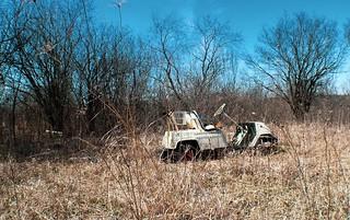Abandoned Golf Cart