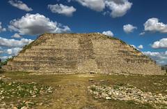 Kinich Kakmó (Adaptabilly) Tags: mexico yucatán izamal travel mayan stairs mx archaeology stone pyramid sky lumixgx7 ruins