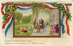 4278 (Ebenezer Maxwell Mansion) Tags: patriotic holiday greeting cards festive postcards museum collections flag