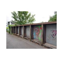 bridge art (chrisinplymouth) Tags: bridge metal urban railway rail plymouth devon england uk cw69x graffiti ground pavement face city plymgrp wb