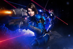 Ashley Williams & female Shepard (Mass Effect 3) (Avarcair) Tags: mass effect shepard ashley williams n7 game cosplay costume science fiction scifi weapon armor fantasy fotocon fotoconbytechland techland photoshop photography