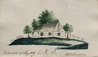 Tegnet hus ved Fredericia