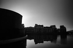 Leith Shore Sunset and Harbour April 2018  (33 of 161) (Philip Gillespie) Tags: sunset sky clouds leith shore harbour water sea river wet reflections buildings architecture mono monochrome black white colour color yellow red orange green purple pink blue urban city town canon 5dsr people men women man woman kids boys girls feet legs heads hands outdoor bridge profile long exposure spider chains birds swan bench scotland edinburgh boats dock night evening lights stars street road hour