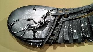 Detail: So... So... | A Sculpture by Alfred Conteh | Marietta Cobb Museum of Art