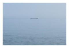 Calm (Number Johnny 5) Tags: horizon lines d750 nikon calm water minimal space mundane blue ship imanoot banal boat minimalism seascape johnpettigrew sea