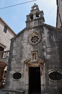 Chapelle St Michel (XVIIe), Korčulanskog statuta, Korčula, comitat de Dubrovnik-Neretva, Dalmatie, Croatie.