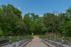 Bridge to Wita Tanka: Hiking at Fort Snelling State Park, Minnes (Tony Webster) Tags: bdote dakota fortsnellingstatepark minnesota minnesotariver mississippiriver pikeisland witatanka bridge confluence hike hiking hikingtrail island landbetweentworivers spring trail