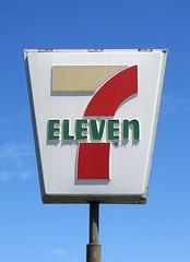 7-Eleven Sign, Bascom Ave., San Jose, Calif. 1 (hmdavid) Tags: vintage sign plastic california roadside advertising 1960s 7eleven convenience store sanjose