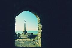 """Angel"" (bestoca) Tags: aberystwyth wales angel castle crossprocess gimp warmemorial"