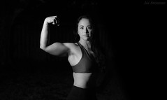 No Fear! (JDS Fine Art Photography) Tags: model muscles fitness fitnessmodel monochrome bw buffed ripped toned inspirational fearless nofear