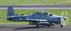 15-2026 Embraer A29 Super Tucano (Panther 84) depart from Prestwick on delivery to Lebanese Air Force. 25/5/18. (BS Images.) Tags: usaf lebaneseairforce tucano military panther embraer a29 airport aircraft aviation ayrshire egpk glasgowprestwick gpa prestwick prestwickairport pik southayrshire scotland
