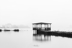 I tried to catch the fog but I mist (RuiFAFerreira) Tags: black beauty bw blackwhite canon exterior fog light landscape mood portugal mist misty waterscape white