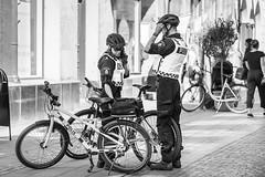 20180531_F0001: The police on bikes (wfxue) Tags: swedish police bike cycling helmet people candid portrait blackandwhite bw bnw monochrome