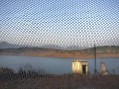 Net-escape (Onlyshilpi) Tags: camping tent morning lake sahyadri net mobilephotography