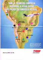 TAM America do Sul187 (Portifólio da Aviação) Tags: xingu embraer vulcan avro volvo a300
