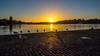Early Birds (Jens Haggren) Tags: sun sunrise sky water colours early birds cobblestones morning stockholm sweden