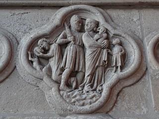 ca. 1230 - 'Massacre of the Innocents', portail de la Vierge, Cathédrale Notre-Dame, Amiens, dép. Somme, France