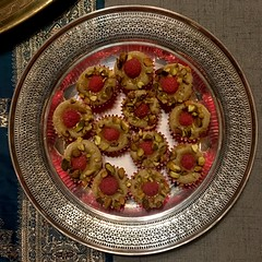 Raspberry Pistachio Friands (blackthorne56) Tags: thankyou recipe guardian manchester friands pistachio raspberry ptak claire