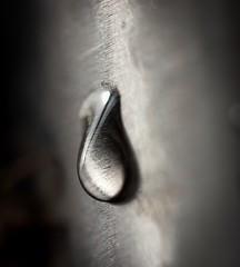 Stainless drop (HiMortl) Tags: water wasser tropfen drops stahl edelstahl steel stainless makro macro panasonic lumix g6 olympus 60mmf28macro hamburgerfotofreaks