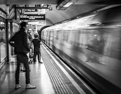 Incoming (Henka69) Tags: streetphotography tube subway london motion movement reflection