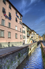 """Canal in Lucca • <a style=""""font-size:0.8em;"""" href=""""http://www.flickr.com/photos/45090765@N05/42304049951/"""" target=""""_blank"""">View on Flickr</a>"""
