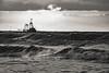 (Wöwwesch) Tags: boat fishing sunset waves blackwhite northsea
