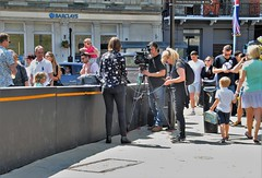 Back At Windsor....Keeping A Tight Rein (standhisround) Tags: windsor berkshire england uk photographer filmcrew camera people crowd crowds streetscene street filming