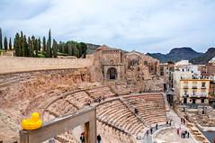 Cartagena (Tony Shertila) Tags: esp spain cartagena geo:lat=3759941455 geo:lon=098399520 geotagged murcia europe roman archiology ducky ampetheatre city seats tourist