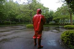 rain in the park (lulax40) Tags: rainwear shiny opalo hunter rubberboots gummi fetish gummistiefel farmerrain
