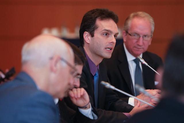 Dominik Englert addresses the session