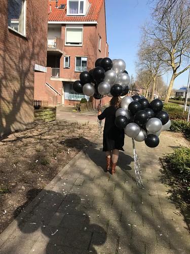Heliumballonnen Zwart Zilver