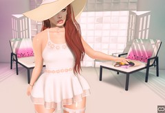 With Your Sun Hats On (Cryssie Carver) Tags: secondlife second life sl avatar whimsical shinyshabby shiny shabby zk michan ama euphoric fabia league suicidalunborn suicidal unborn catwa maitreya anlarposes an lar poses sequel sways cherryhouse cherry house