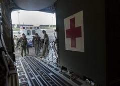 BEEliners enable AE mission (Official Travis AFB, Calif.) Tags: select ae aeromedical evacuation beeliners 21stairliftsquadron asian pacific american heritage month c17globemasteriii c17 kadena anderson afb air care ccatt critical transport team medics nurse 21stas patientcare