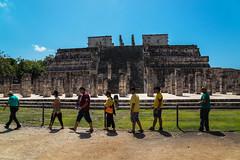 The Temple of the Warriors / Храм Воинов (Vladimir Zhdanov) Tags: travel mexico yucatan ruins maya ancient architecture building sky chichenitza temple templeofthewarriors people grass tree